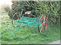 SO2615 : Farm implement at 'Pysgodlyn' Caravan and Camp Site by Colin Madge