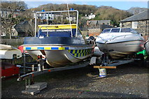SH5638 : Cwch yr Harbwrfeister - Harbourmaster's Boat by Alan Fryer