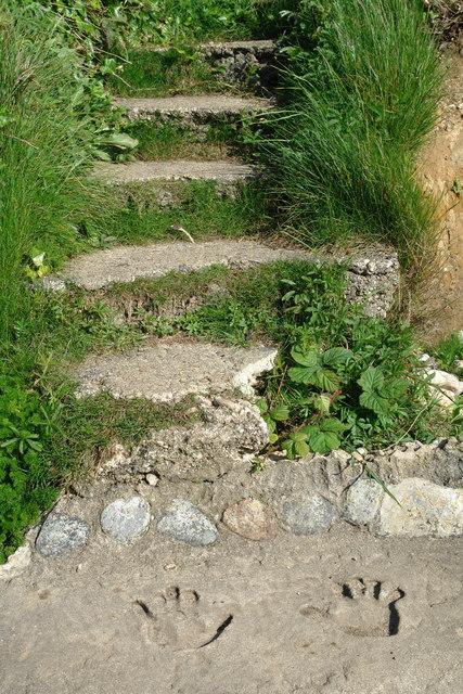 Steps to Llanbadrig Beach