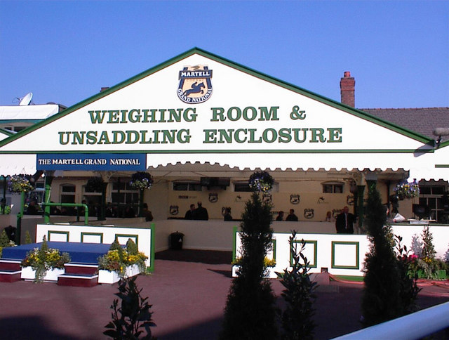 The old weighing room at Aintree racecourse
