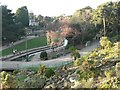 SZ0890 : Bournemouth Gardens: upstream from the Pavilion by Chris Downer