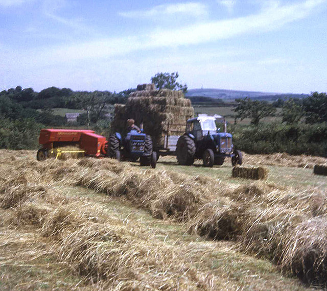 Hay baling near Pitt Farm