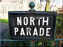 J3472 : Sign, North Parade Belfast by Rossographer