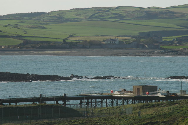 The jetty at Wylfa Power Station