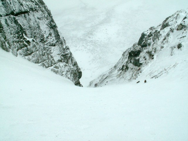 The top of Aladdin's Couloir