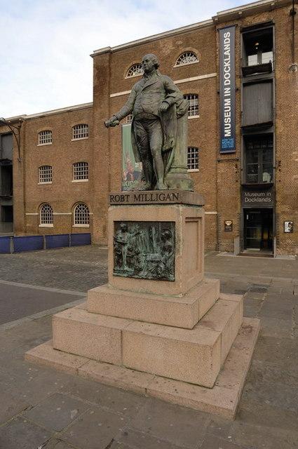 Statue of Robert Milligan in Docklands