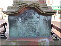 NY9364 : Plaque on the south side of  the Temperley Memorial Fountain, Market Place by Mike Quinn