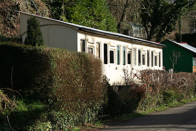 Calstock: old Great Western Railway carriage