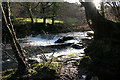 SX4768 : Bere Ferrers: weir on the Tavy by Martin Bodman