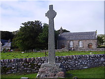 NM2824 : Iona - Cross and Parish Church by James Denham