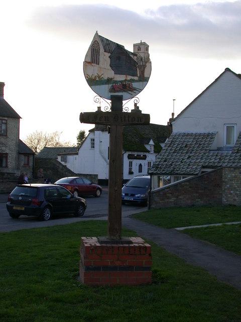Fen Ditton village sign, eastern side