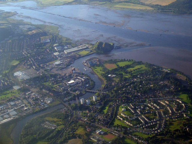 River Leven and River Clyde from the air