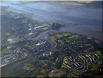 NS3974 : River Leven and River Clyde from the air by Thomas Nugent