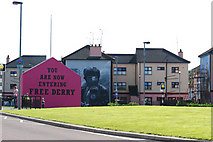 C4316 : Free Derry Sign by Duncan Grant
