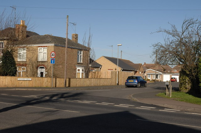Entrance to Nursery Drive, off Wisbech Road