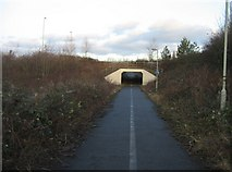 SU6252 : Cycle path under Ringway West by Given Up