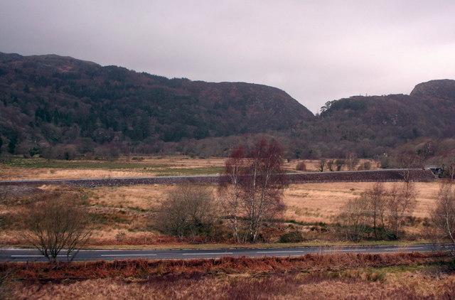 Welsh Highland Railway embankment south of Nantmor.