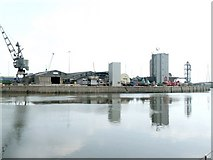 TF3242 : Panorama of Riverside Quay, Boston - 1 of 2 by Dave Hitchborne