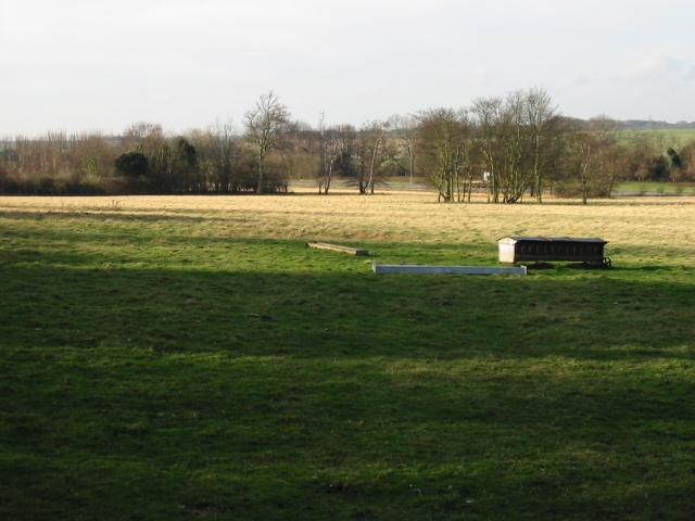 Looking W across the field towards the Eastry bypass