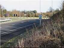 TR3153 : Roundabout on the A256 Eastry bypass by Nick Smith