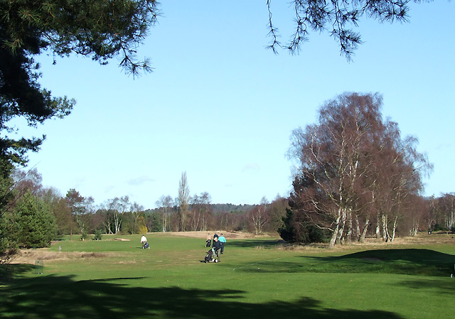 Golf, south of Highgate Common, Staffordshire