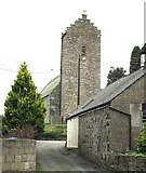 SH3537 : The bell tower of Holy Cross Church, Llannor by Eric Jones