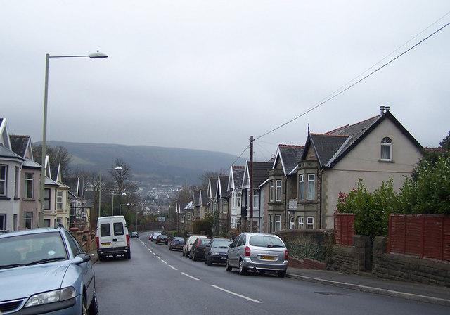 Long streets of Abernant, near Aberdare