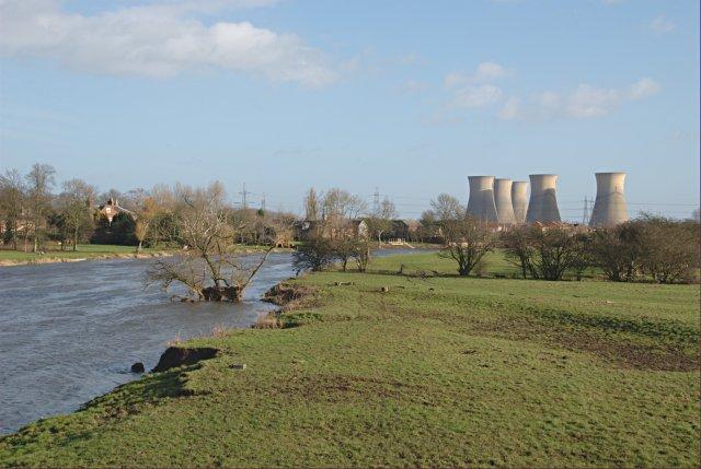 Trent floodplain east of Willington Bridge