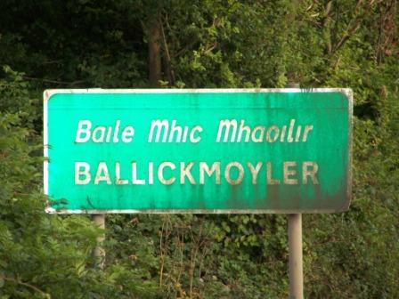 Entering Ballickmoyler from the West