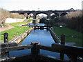 SJ3392 : Last Lock on Leeds-Liverpool Canal by Sue Adair