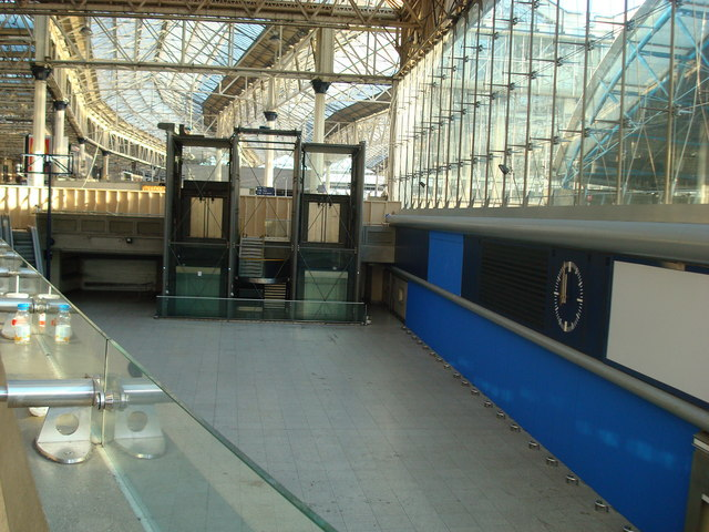 Disused Waterloo International concourse