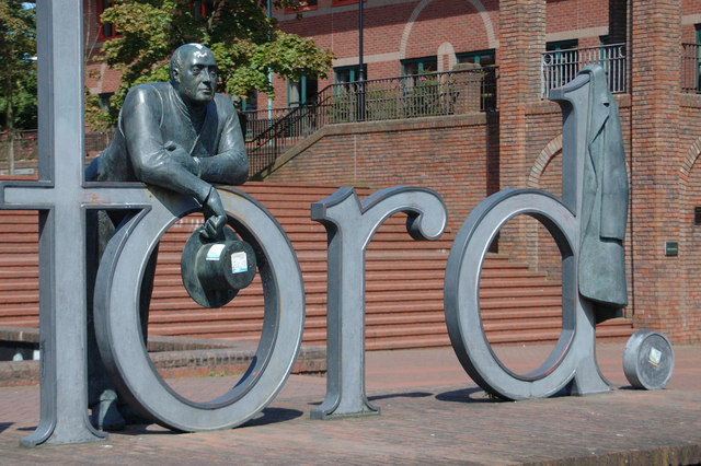 Telford - the statue outside the civic centre