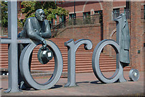 SJ6909 : Telford - the statue outside the civic centre by Row17