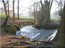 SE2837 : Weir on Meanwood Beck by Chris Brierly