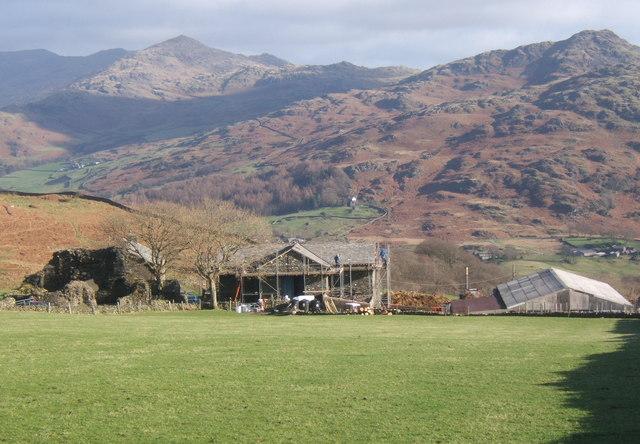 Old Hall Farm overlooking the Duddon valley