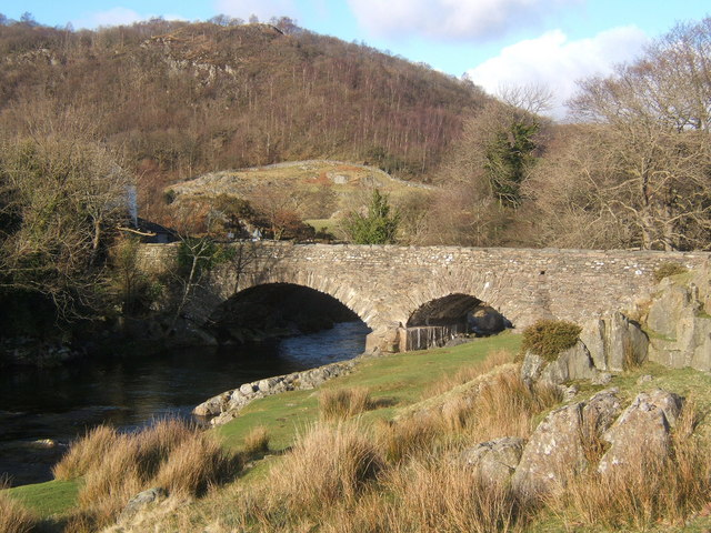Ulpha Bridge over the Duddon, a popular stopping place
