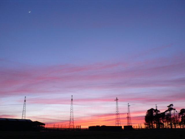 Radio mast array, Rampisham