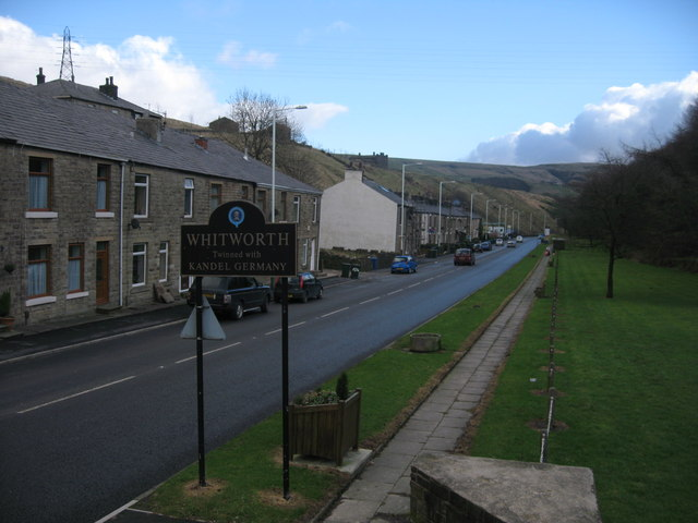 Whitworth Boundary Sign on Rochdale Road