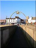 TQ2104 : Entering Shoreham via the Footbridge by Simon Carey