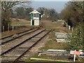 TF9822 : Signalbox, County School station by Paul Shreeve