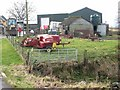 NY4780 : Agricultural bric-a-brac at Bushfield by Oliver Dixon