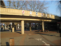 TQ1096 : Watford: High Street and the Exchange Road flyover by Nigel Cox