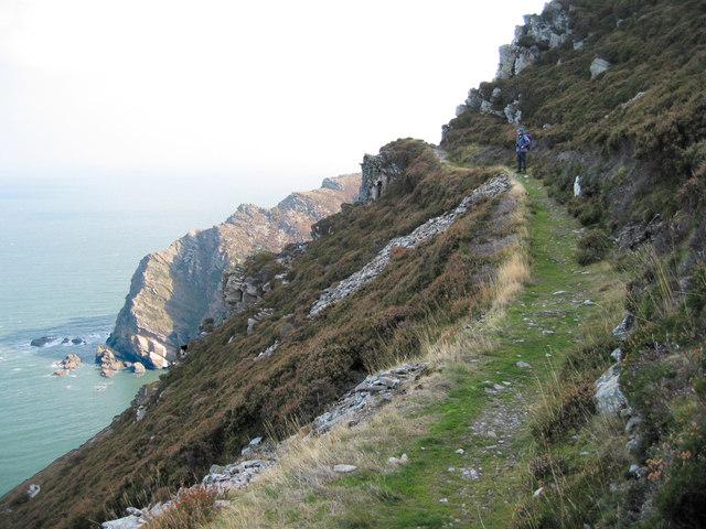 Coastal path  near Heddon's mouth