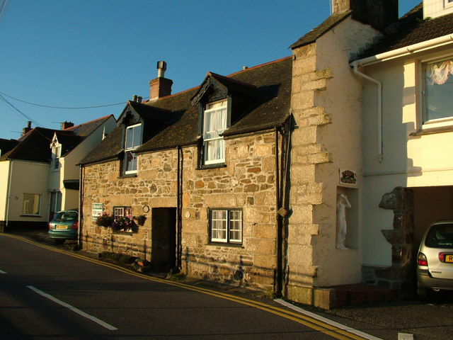 Old Cottages in Fore Street, Newlyn