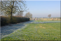 SP4476 : Farmland near Church Lawford by Stephen McKay