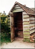 SO9568 : Avoncroft Museum: earth closet which served the Little Malvern toll house by Mike Goodwin