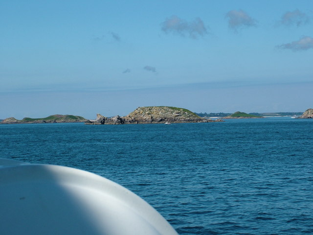 """Approaching the Isles of Scilly on the """"Vomit Rocket"""""""