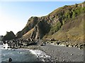NT4699 : Stone Beach and Basalt Rock Pillars at Kincraig Point by Margot Manson