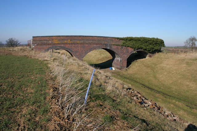 Bridge in a field