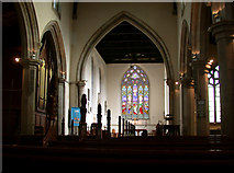 TL4568 : All Saints' Church, interior by Keith Edkins